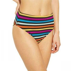 NWT Xhilaration Rainbow Bikini Bottom XL Black